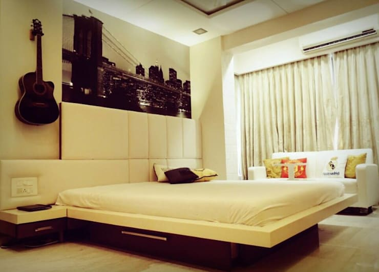 Sanghvi Residence: modern Bedroom by SwitchOver Studio