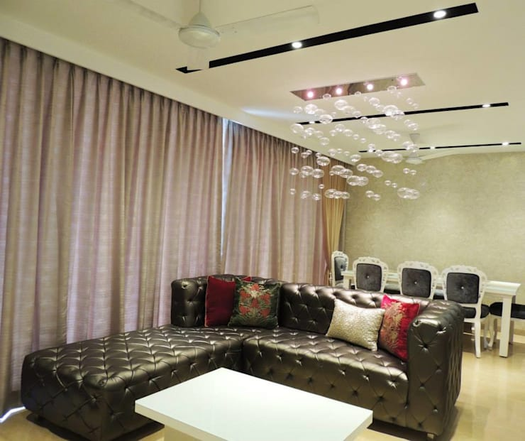 3bhk at Jogeshwari: modern Living room by SwitchOver Studio