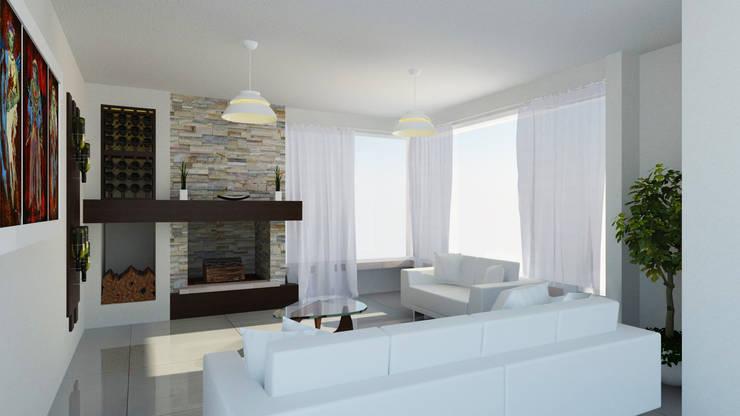 Sala Estar: Salas de estilo  por JRK Diseño - Studio Arquitectura