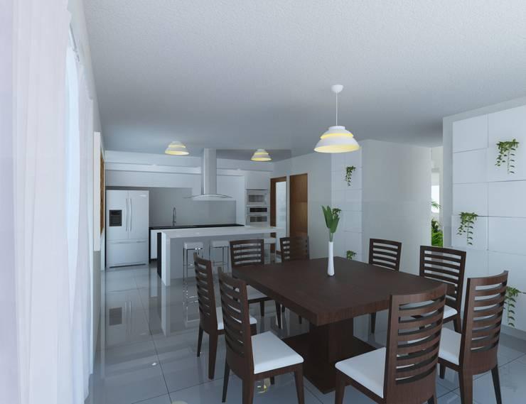 Comedor y Cocina: Comedores de estilo  por JRK Diseño - Studio Arquitectura