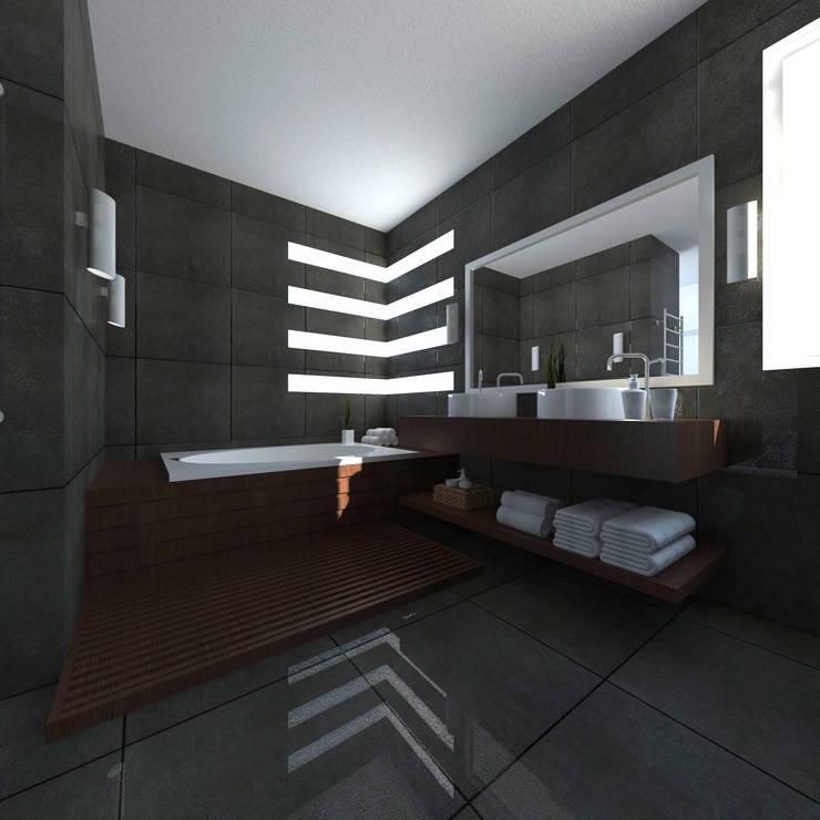 Baño Principal: Baños de estilo  por JRK Diseño - Studio Arquitectura
