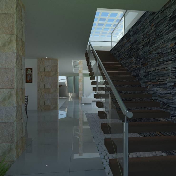 Escalera Principal: Pasillos y recibidores de estilo  por JRK Diseño - Studio Arquitectura