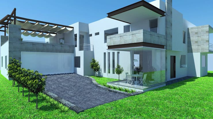 Fachada Principal: Casas de estilo  por JRK Diseño - Studio Arquitectura