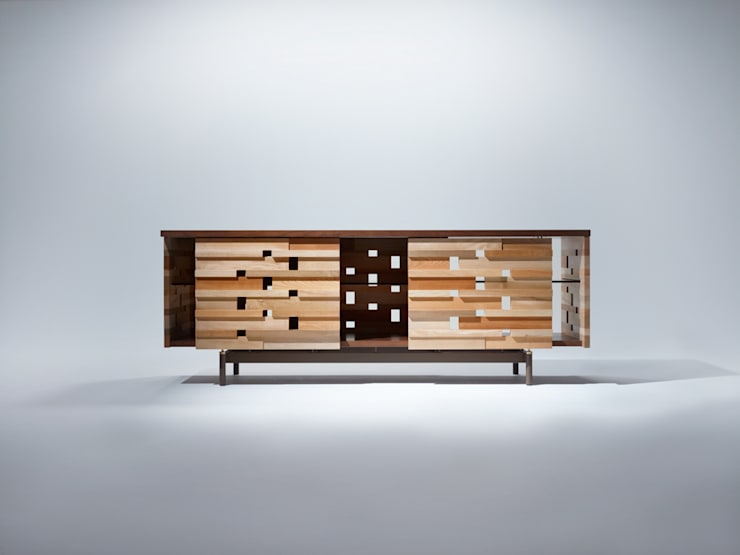 Ostinato seriese Side Board: MOCTAVEが手掛けたリビングルームです。