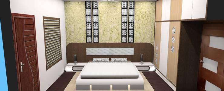 Bed Room:  Bedroom by Vishvas Architects