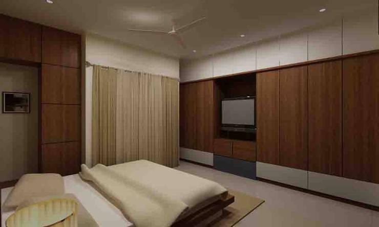 3BHK Interior Flat @Pune:  Bedroom by SkyGreen Interior