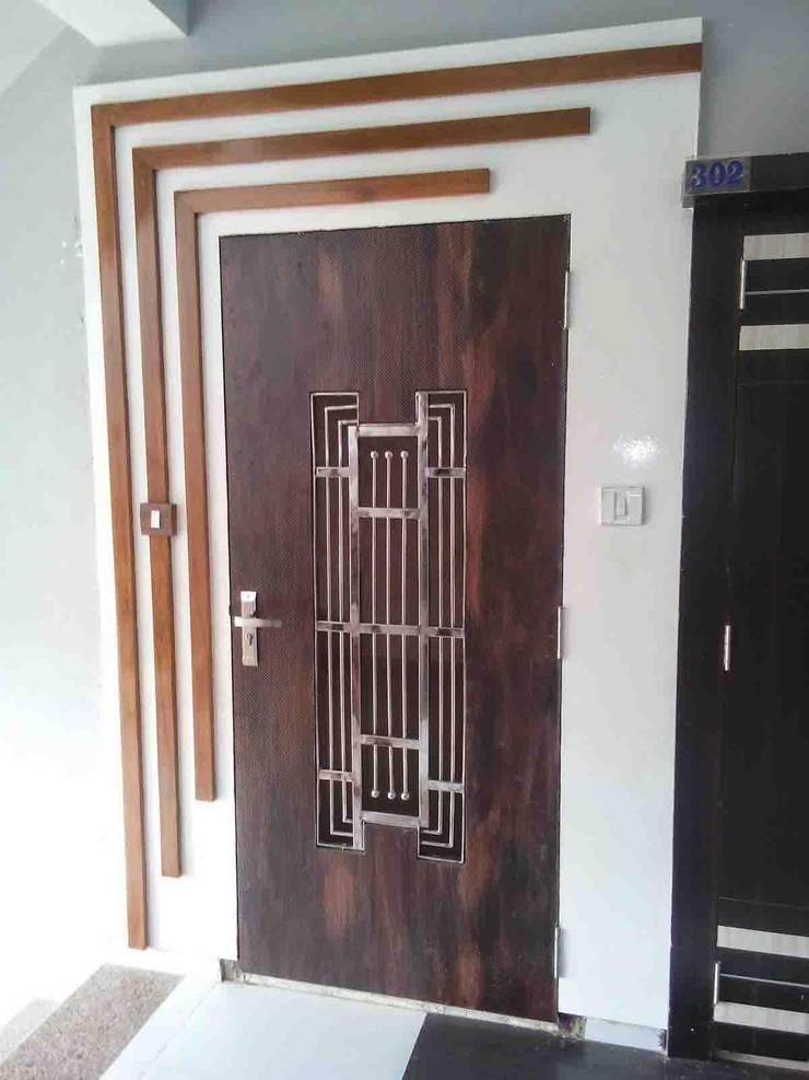 2BHK - Interior Flat @Ahmedabad: modern Living room by SkyGreen Interior