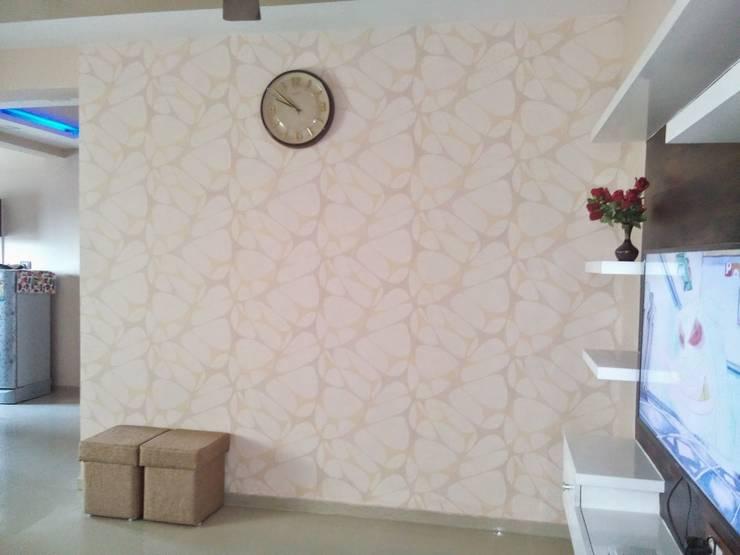 2BHK—Interior Flat @Ahmedabad: modern Living room by SkyGreen Interior