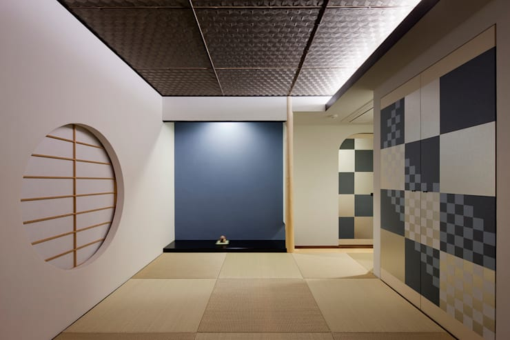 五感を楽しませる空間: 根來宏典建築研究所が手掛けた和室です。,