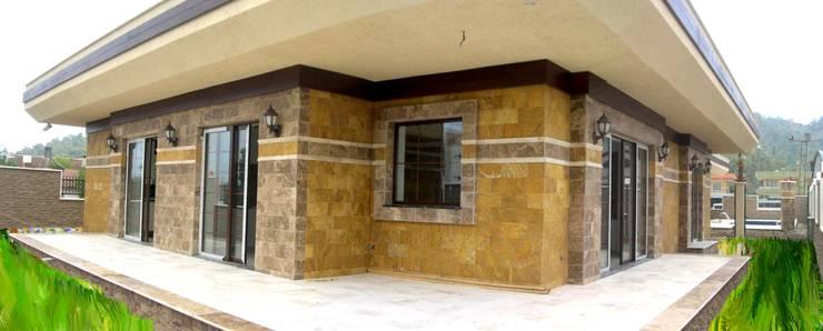 Celebi Yapı – Villa :  tarz Duvarlar, Rustik Mermer
