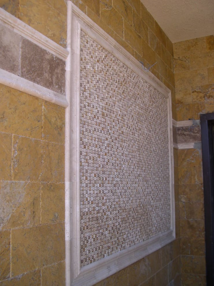 Celebi Yapı – Villa:  tarz Duvarlar, Rustik Mermer