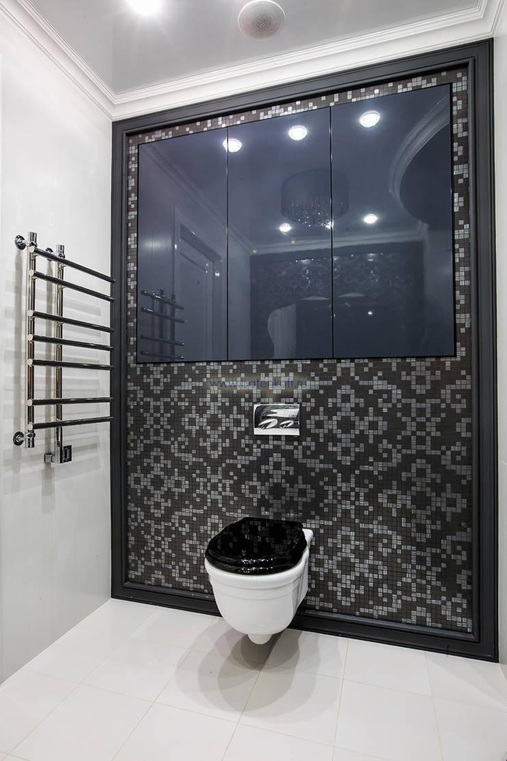 Фото реализованной ванной в квартире по проекту от Батенькофф: Ванные комнаты в . Автор – Дизайн студия 'Дизайнер интерьера № 1',