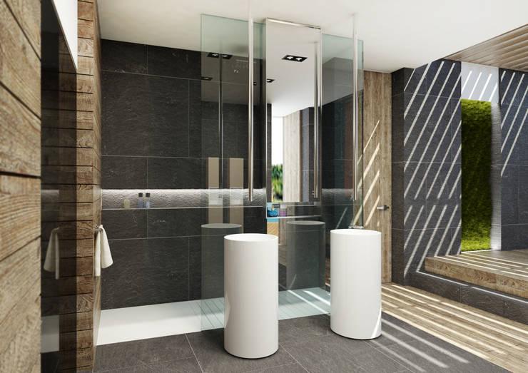 Projekty,  Łazienka zaprojektowane przez plasma