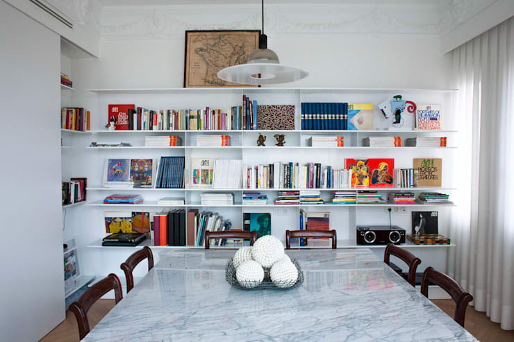 PQ Apartment: Estudios y despachos de estilo  de Singularq Architecture Lab