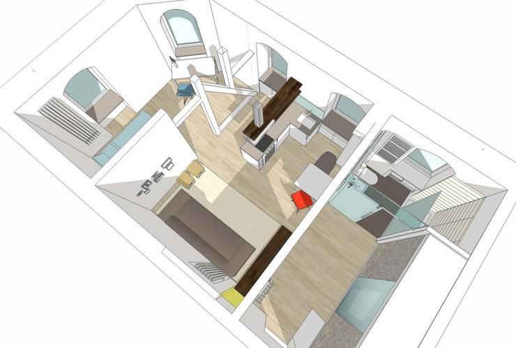 Badkamer door HONEYandSPICE innenarchitektur + design