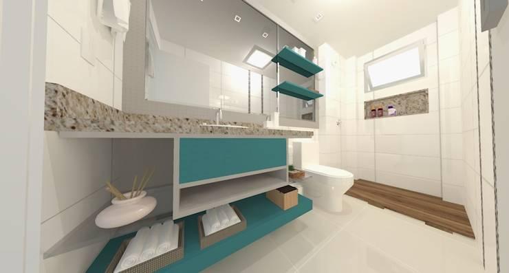 Apartamento FH: Banheiros modernos por INOVAT Arquitetura e interiores