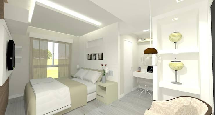 Apartamento FH: Quartos  por INOVAT Arquitetura e interiores