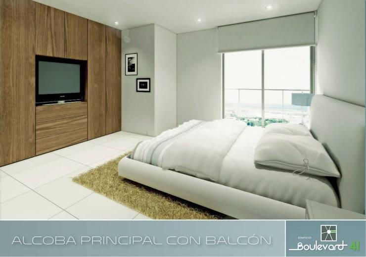 Boulevard 41: Habitaciones de estilo  por Oleb Arquitectura & Interiorismo, Moderno
