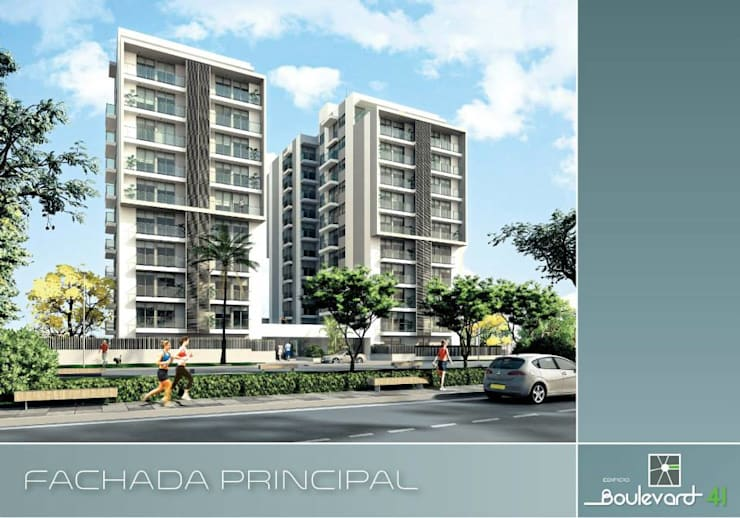 Boulevard 41: Casas de estilo moderno por Oleb Arquitectura & Interiorismo
