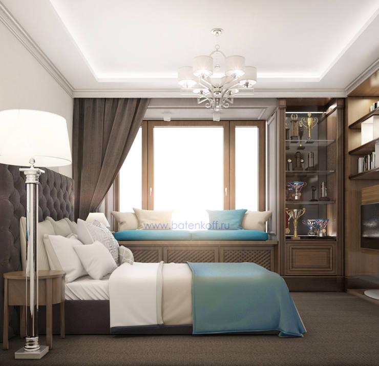 Dormitorios de estilo  de Дизайн студия 'Дизайнер интерьера № 1'