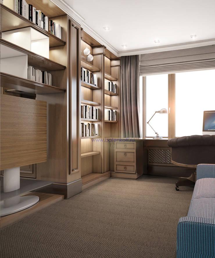 Москва. Дизайн комнаты для подростка в Химках: Рабочие кабинеты в . Автор – Дизайн студия 'Дизайнер интерьера № 1',
