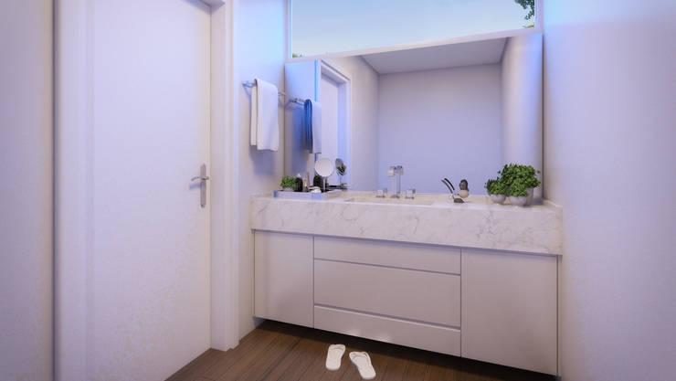 APTO DF: Banheiros modernos por AF Arquitetura