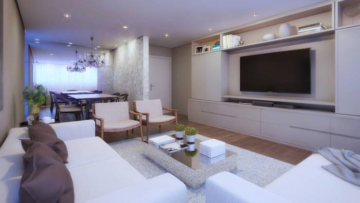 APTO DF: Salas de estar modernas por AF Arquitetura