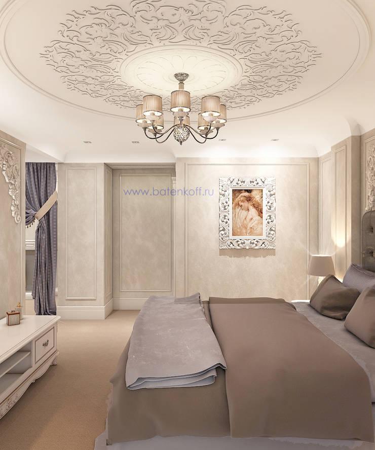 Москва, дизайн проект спальни в современной классике в Химках: Спальни в . Автор – Дизайн студия 'Дизайнер интерьера № 1',