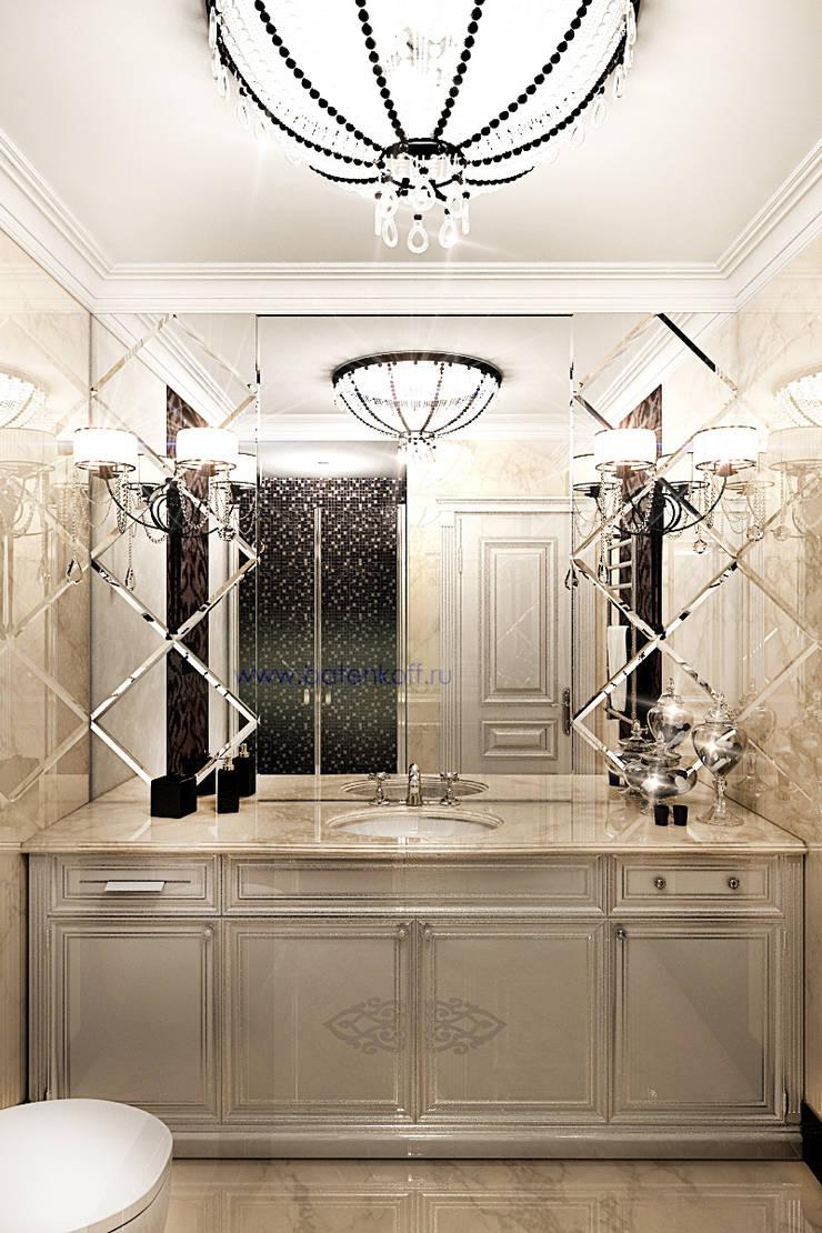Дизайн проект туалета в квартире а ардеко, Москва. : Ванные комнаты в . Автор – Дизайн студия 'Дизайнер интерьера № 1'