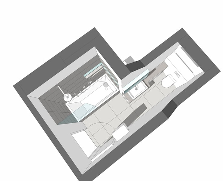 Kleines Bad von HONEYandSPICE innenarchitektur + design | homify