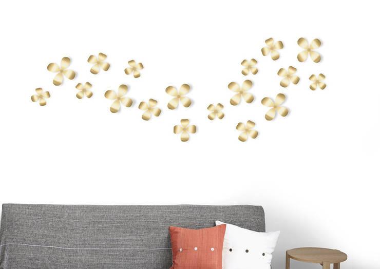 Декор для стен Wallflower 9 медь:  в современный. Автор – Enjoyme, Модерн Алюминий / Цинк