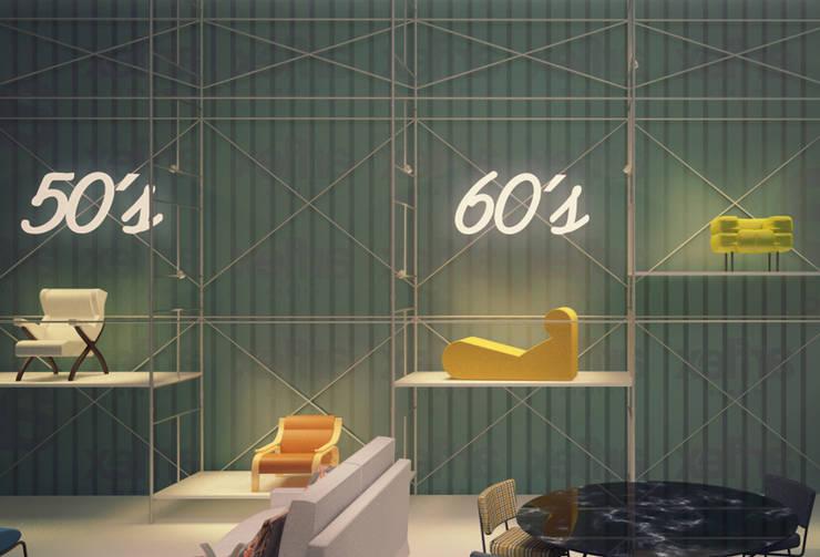 Estudo para Stand Arflex 'Il Saloni 2013', Milão: Centros de exposições  por ASVS Arquitectos Associados