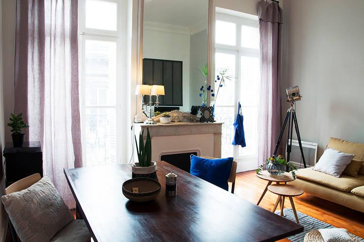 Living room by Cécilia Cretté architecte