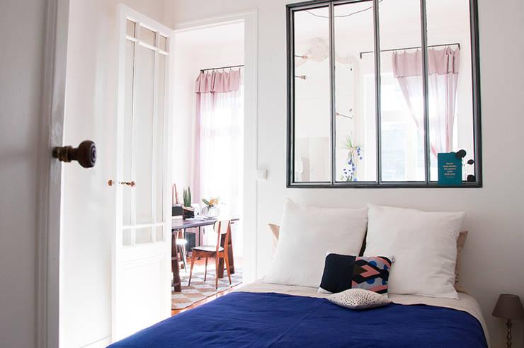 Appartement Le Cheverus: Chambre de style  par Cécilia Cretté architecte