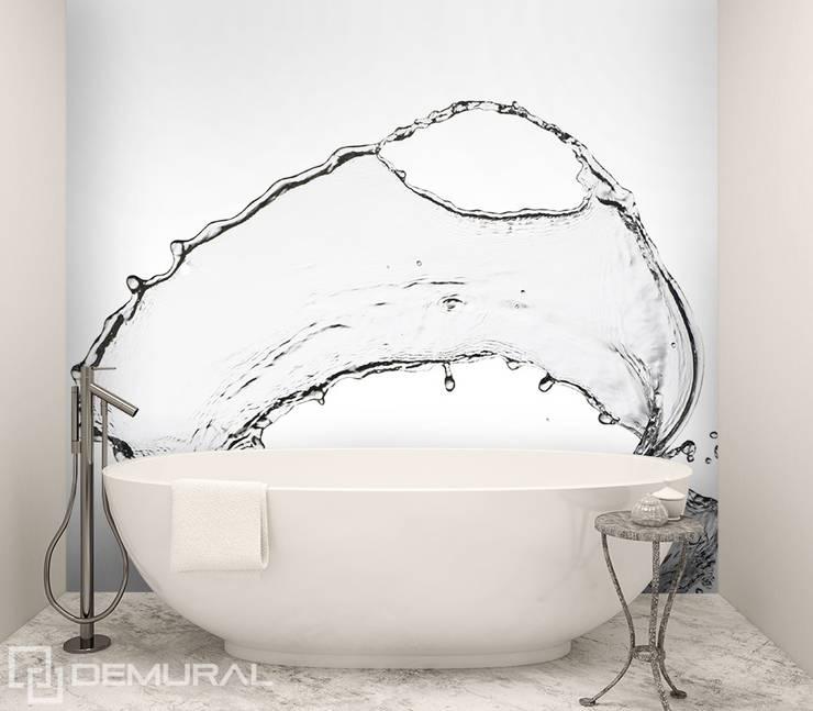 Plusk wody: styl , w kategorii Łazienka zaprojektowany przez Demural.pl,Nowoczesny