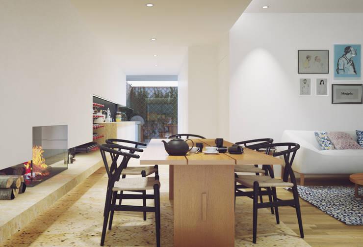 moderne Eetkamer door ASVS Arquitectos Associados
