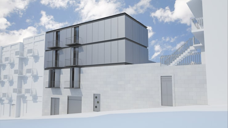 Lofts Rua da Firmeza, Porto: Casas  por ASVS Arquitectos Associados