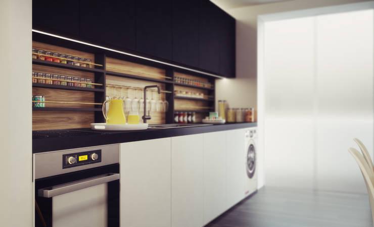 Apartamento em Gondizalves, Braga: Cozinhas  por ASVS Arquitectos Associados
