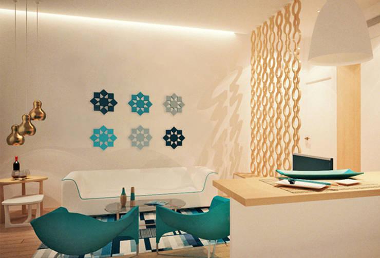 Interiores Aparthotel Salmiya, Doha, Qatar: Hotéis  por ASVS Arquitectos Associados