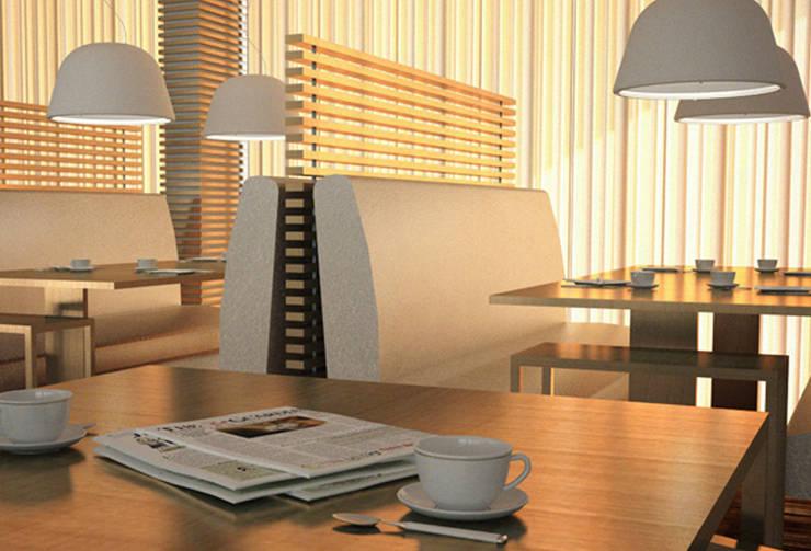 Interiores Aparthotel Salmiya, Doha, Qatar: Espaços de restauração  por ASVS Arquitectos Associados