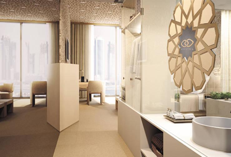 Interiores Classic King Room Sofitel, Emirados Árabes Unidos: Hotéis  por ASVS Arquitectos Associados