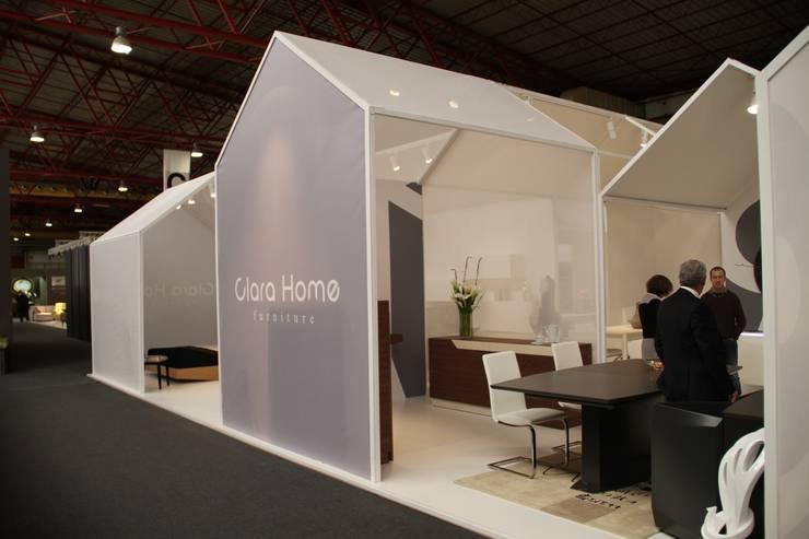 Stand Clara Home, ExportHome 2015, Porto  ll  Stand Clara Home, Intergift 2014, Madrid (Espanha)  ll  Stand Clara Home, IMM 2015, Colónia (Alemanha): Centros de exposições  por ASVS Arquitectos Associados