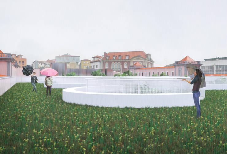 Concurso Público de Conceção para a Revitalização da Praça 2 de Maio, em Viseu: Casas  por ASVS Arquitectos Associados