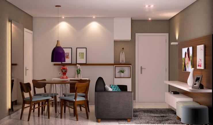 Sala de Jantar e Tv: Salas de jantar  por Madi Arquitetura e Design