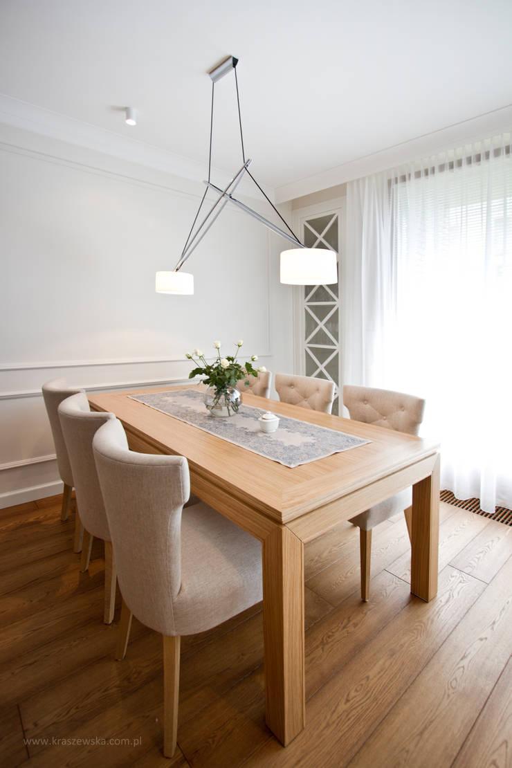 Mieszkanie Wilanów: styl , w kategorii Jadalnia zaprojektowany przez Katarzyna Kraszewska Architektura Wnętrz,Klasyczny