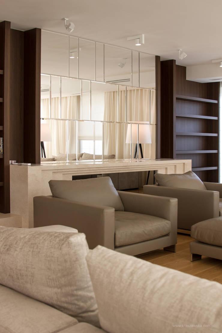 Apartament 250 m kw: styl , w kategorii Salon zaprojektowany przez Katarzyna Kraszewska Architektura Wnętrz,Nowoczesny