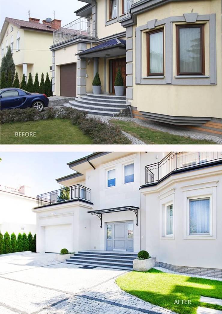 Projekt przebuowy domu 650m kw,: styl , w kategorii  zaprojektowany przez Katarzyna Kraszewska Architektura Wnętrz