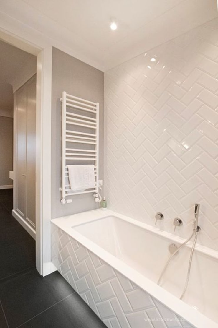Projekt Wnętrza mieszkania 140 m kw: styl , w kategorii Łazienka zaprojektowany przez Katarzyna Kraszewska Architektura Wnętrz