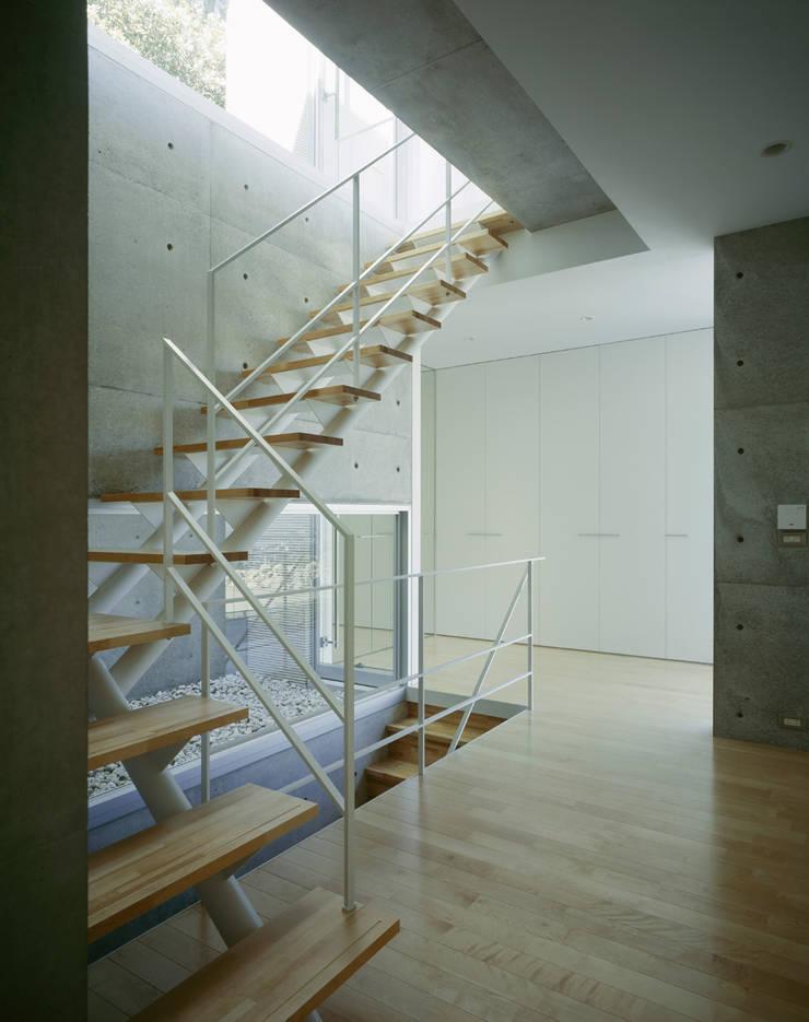 苦楽園二番町の家Ⅰ: 株式会社  小林恒建築研究所が手掛けた廊下 & 玄関です。,
