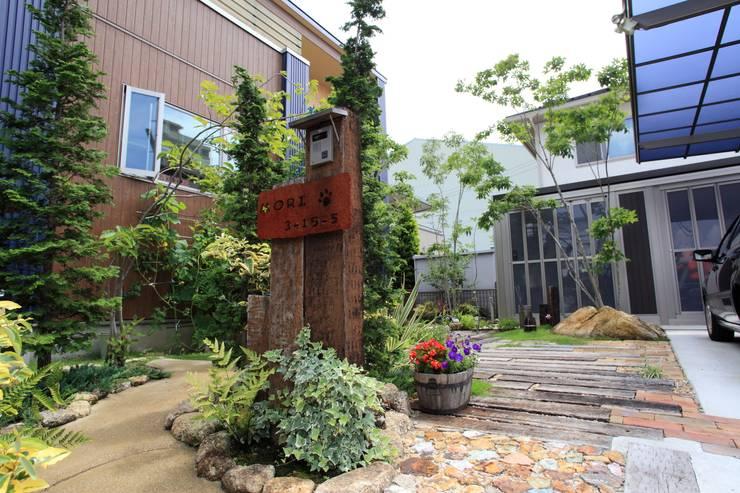 枕木木の庭 - 写真10: 平山庭店が手掛けた庭です。,